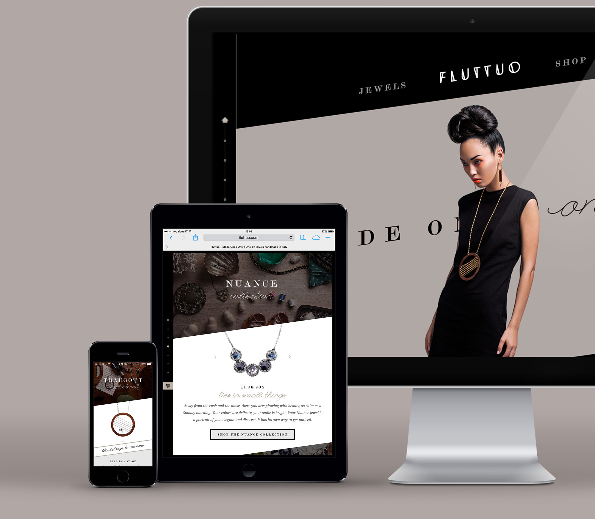 Fluttuo made once only website design responsive