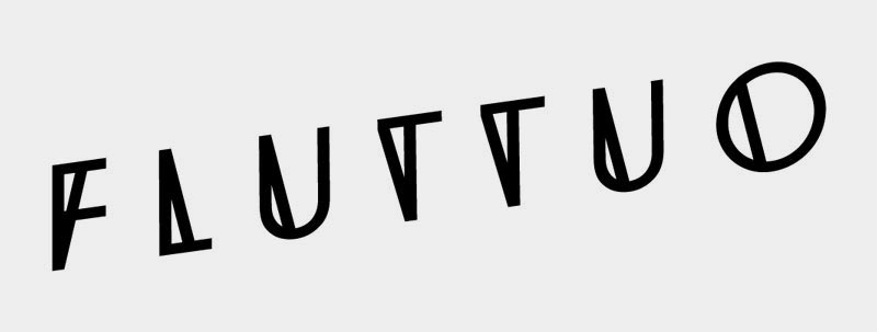 Fluttuo made once only logo