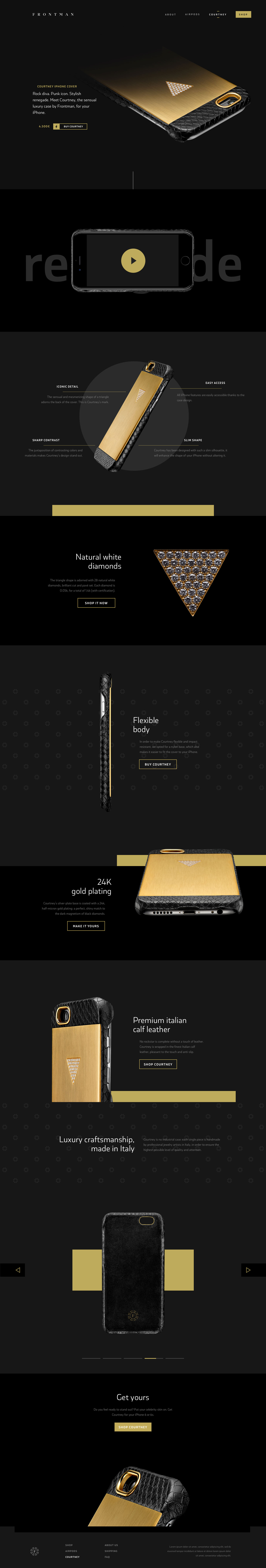 Landing Page for Courtney iPhone cover by Frontman
