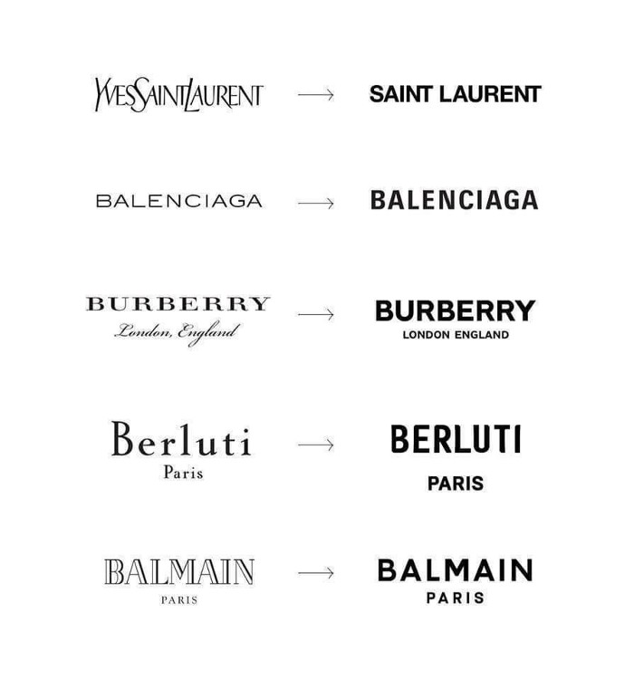 luxury fashion brands rebranding