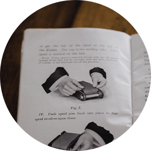 An illustrated product manual, a vintage example of a brand touchpoint